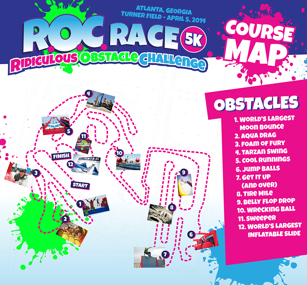 ROC Race Atlanta 2014 Course Map