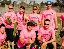 Pink Softball Team